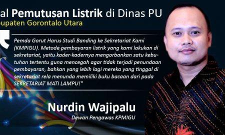 dailypost.id - Nurdin Wajipalu Menanggapi Pemutusan Listrik di Dinas PU Gorontalo Utara