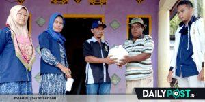 Mahasiswa FISIP UG Distribusikan Bansos untuk Korban Banjir di Bone Bolango