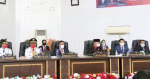 Gubernur Sulut dengarkan Pidato Sambutan Walikota Bitung