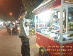 Polsek Balongan Bersinergi Dengan Pemerintah Desa Laksanakan Pemantauan Prokes Pasar Tumpah