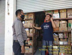 Polsek Balongan Melaksanakan Patroli Pengawasan Prokes Serta Penegakan Disiplin Protokol Kesehatan