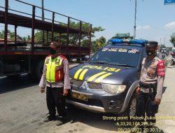 Patroli Strong Point Sambang Wiralodra Digelar Polsek Sukagumiwang Dalam Mengantisipasi Tindak Kejahatan