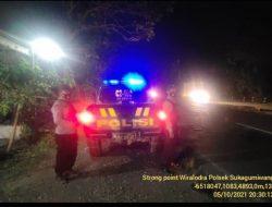 Polsek Sukagumiwang Rutin Gelar Kegiatan Patroli Strong Point Wiralodra