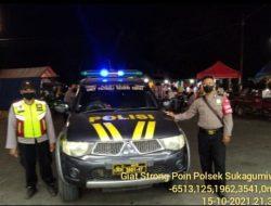 Polsek Sukagumiwang Berperan Aktif Jaga Kondusifitas Dengan Giat Patroli SPW