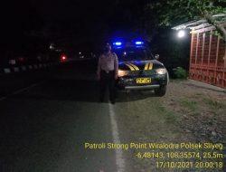 Giat Patroli SPW Antisipasi Tindak Kejahatan  Oleh Polsek Sliyeg
