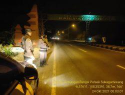 Polsek Sukagumiwang Gelar Giat Patroli Daerah Rawan Gabungan Fungsi