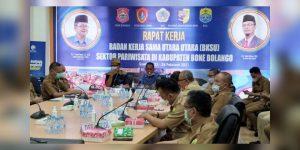 Dalam Raker BKSU, Pemkab Bone Bolango Paparkan Potensi Wisata Geopark