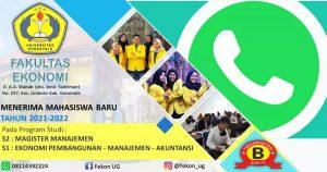 Waw, Pendaftaran Mahasiswa Baru di UG Bisa Via Whatsapp!