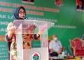Sekretaris Daerah (Sekda) Kabupaten Gorontalo, Hadija U. Tayeb saat menghadiri Focus Group Discussion Pengembangan Kerjasama Kelembagaan Ekonomi Kawasan Perdesaan yang digelar Direktorat Pengembangan Kelembagaan Ekonomi dan Investasi Desa, Daerah Tertinggal, dan Transmigrasi