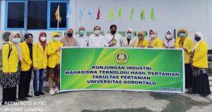 Mahasiswa FAPERTA UG Lakukan Kunjungan Industri ke PT. Multi Nabati Sulawesi unit Maleo