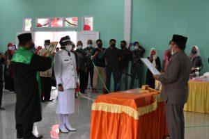 Penjabat Kepala Desa Bulontio Timur Dilantik, Ini Pesan Bupati Indra