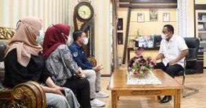 Sekda Gorut Terima Kunjungan LP3M UG, Bahas Penempatan Mahasiswa KKP