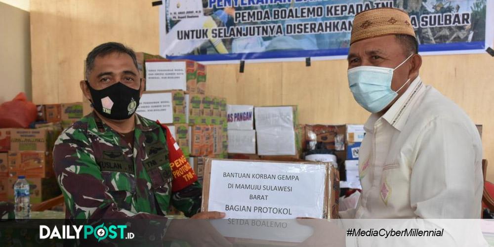 Serakan Bantuan untuk Sulbar, Anas Jusuf Ini Hasil Donasi ASN