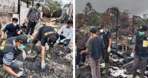 Tim Labfor dari Sumatera Utara mulai olah TKP Kebakaran di Simeulue