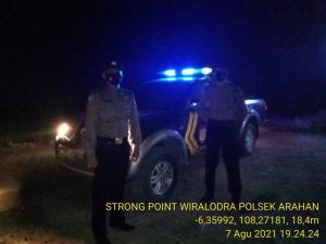 Polsek Arahan Tingkatkan Pelayanan Dalam Segi Keamanan Dengan Giat KRYD dan Strong Point Wiralodra